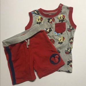 Disney Baby Outfit Mickey Mouse EUC 18M